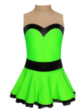 tunique de patinage vert fluo