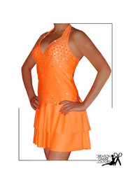 robe latine orange